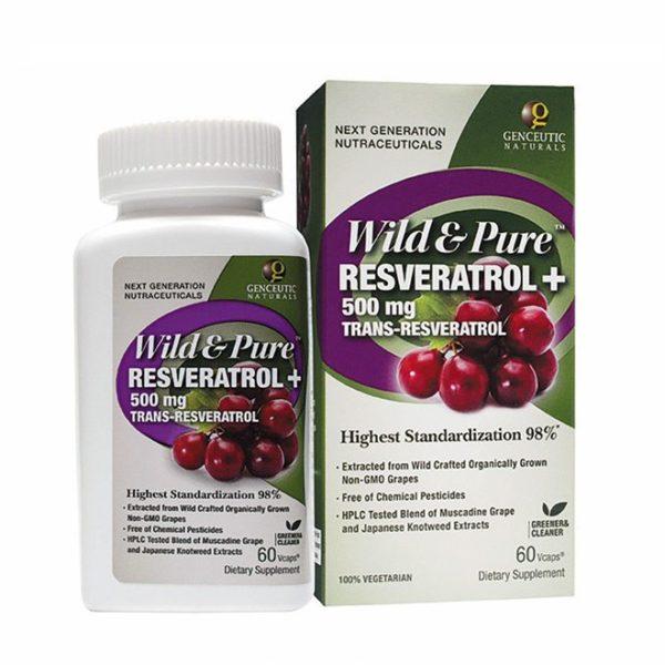 Wild Pure Resveratrol 500mg 60ct Ecolifeherbal